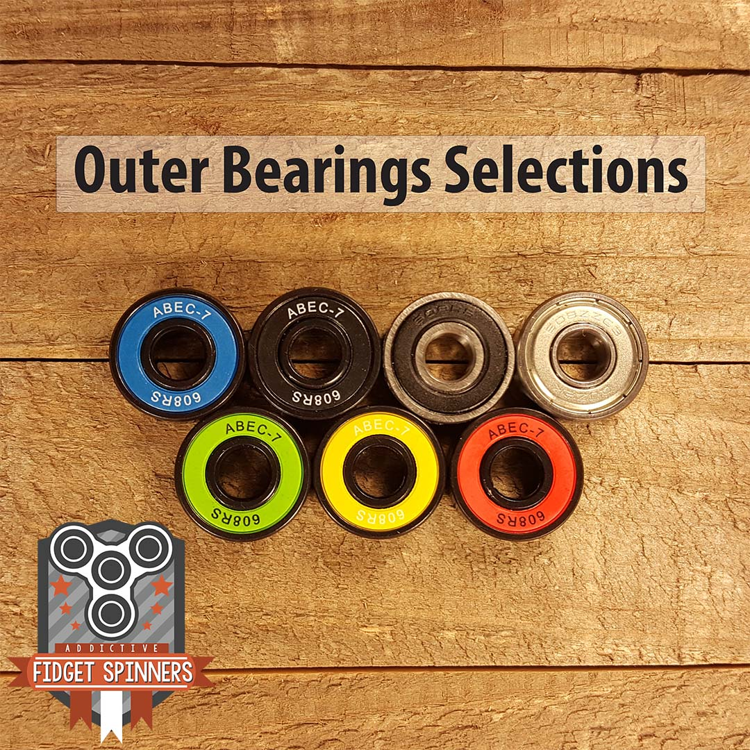 EDC Spinner Tri Bar Fidget Toy with Caps Center Bearing Selections Outer  Ball Bearing Selection ...