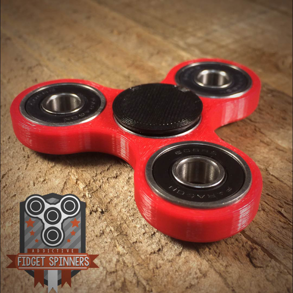 EDC Spinner Tri Bar Fid Toy with Caps Addictive Fid Toys