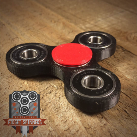 Edc Luminous Tri Bar Spinner Fidget Toy With Caps