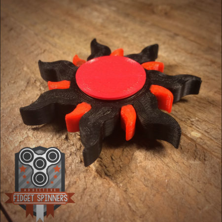 Sun Black and Red Spinner