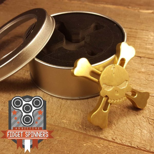 Brass Skull and Crossbones Fid Spinner