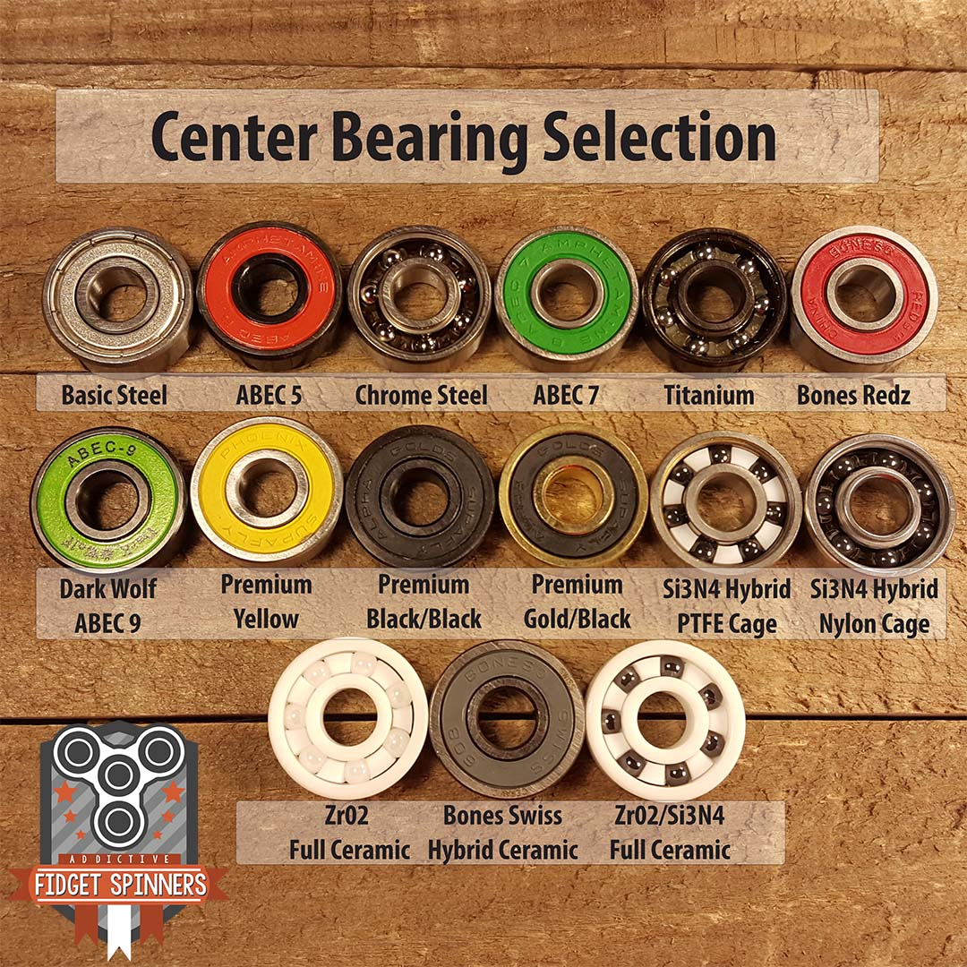 EDC Spinner Tri Bar Fidget Toy with Caps Center Bearing Selections ...