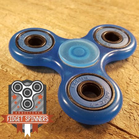 EDC Luminous Tri Bar Spinner Fidget Toy