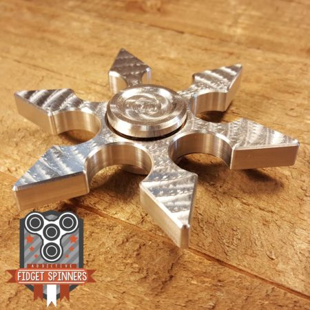 EDC Aluminum 6 Point Shuriken Fidget Toy