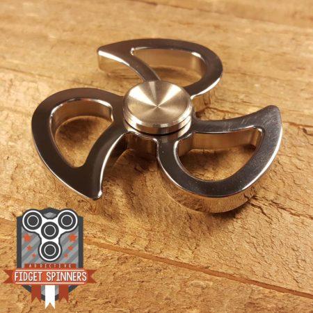 Stainless Steel Swirl Fidget Spinner