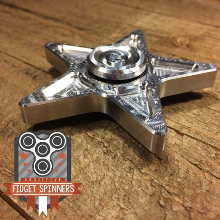 EDC Aluminum Star Fidget Spinner with Caps