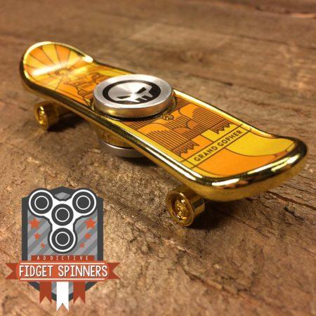 EDC Beaver Skateboard Fidget Spinner (Gold)