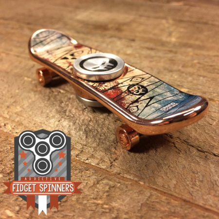 EDC Monster Skateboard Fidget Spinner (Copper)