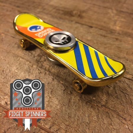 EDC Stripes Skateboard Fidget Spinner (Gold)