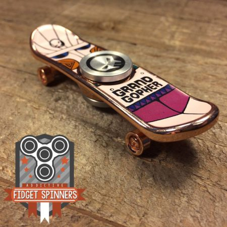EDC Graphic Skateboard Fidget Spinner (Copper)