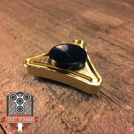 EDC Mini Brass Triangle Fidget Spinner