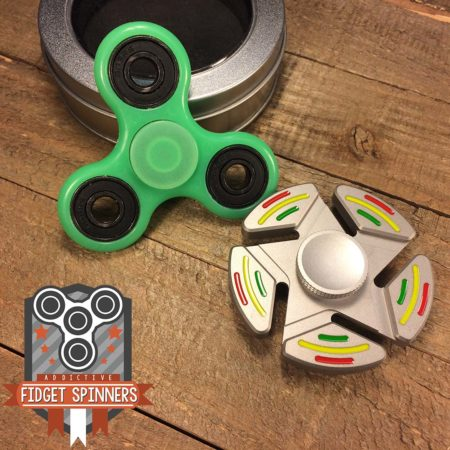 EDC Stars Stripes and Luminous Fidget Spinner Bundle