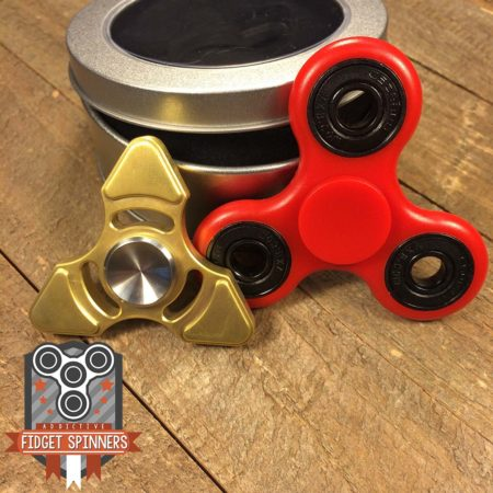 EDC Brass Triangular and Velocity Tri Fidget Spinner Bundle
