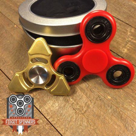EDC Brass Triangular and Velocity Tri Fidget Spinner Bundle